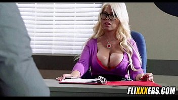 Giant blonde milf tits and office sex 2 1