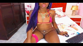naughty black nubile peels off nude.