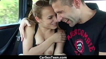 Hitchhiker horny teen sucks for her ride 8