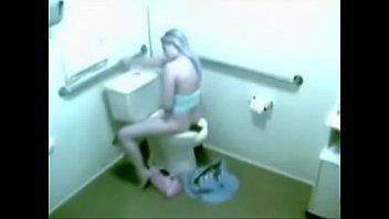 security webcam caught sweetie rest room.