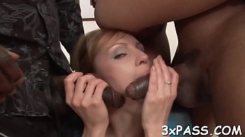 interracial 3-some lovemaking