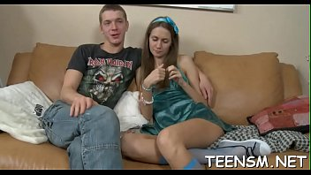 Peachy teen is screwed rough doggy style and gets amazed