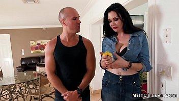 Huge tits Milf bangs her gardener