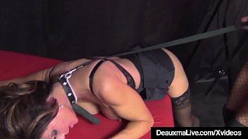 encaged cougar deauxma hammered by supah-sexy phat-boobed louise jenson