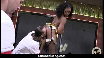 Interracial group blowjob from a ebony slut 8
