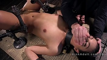 Bound babe ass and cunt whipped