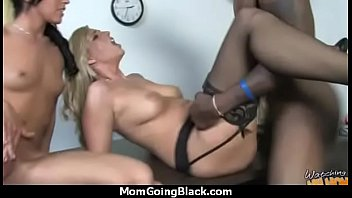 Sexy mom gets a creamy facial after getting pounded by a black dude 27