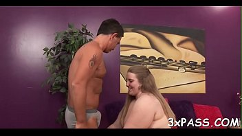 Hot interracial sex between dark chubby girl and white guy