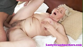 phat-boobed grandmother gets her wooly gash.