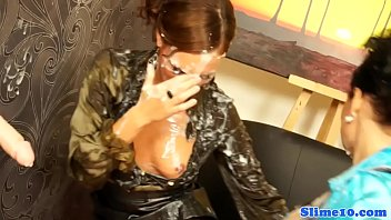 glamour eurobabe caked in jism