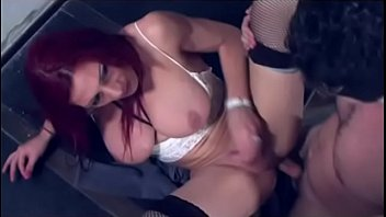 nasty and supah hot transgirl in ebony tights.