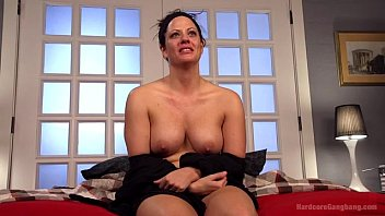 Hot *MILF* Wife Gangbanged By Husband'_s Friends