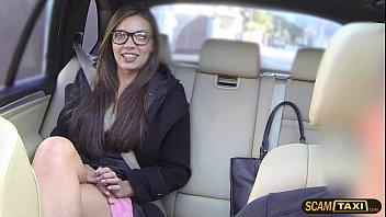 infatuating nerd doll enjoys vulva ramming inwards the cab