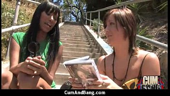 Interracial group blowjob from a ebony slut 4