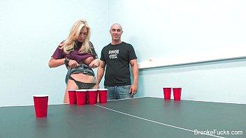 stellar beer pong with brooke banner