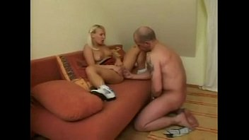 blonde teen babe and mature man