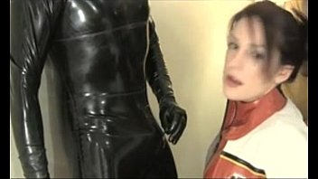Blowjob in Latex Catsuit and Cum in Mouth