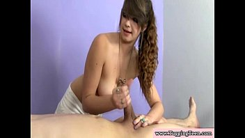 youthfull brown-haired providing hj and tugjob