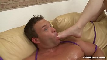 brown-haired mistress pegging a defying beefy.