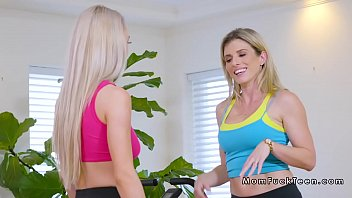 Milf stepmom and teen in threesome