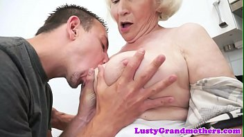 unshaved fledgling grandma gets doggystyle plowed