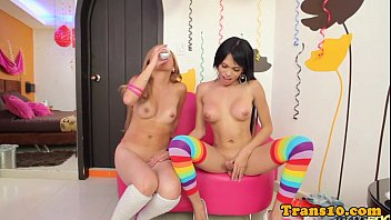 latina she-masculine fapping her schlong before.