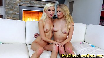 Lesbian toyed up her ass