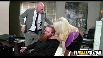 Giant blonde milf tits and office sex 2