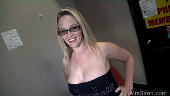 wifey at local adult vid store