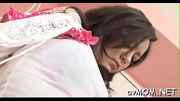 chinese angel inhales rod while she gets her.