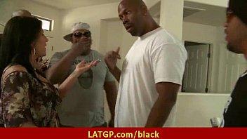 Black cock in Milf'_s pussy Interracial hardcore porn movie 19