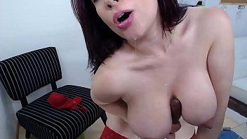 Busty Sexy Milf masturbates with huge dildo - See more at VenusX.webcam