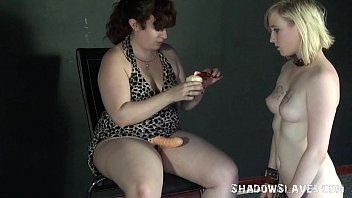 Lesbian feet licking and foot domination of lezdomme slave girl Satine Spark