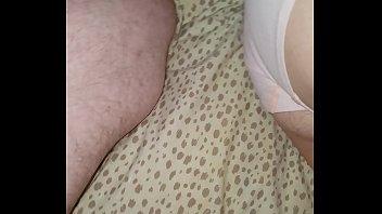 cumming on my sleeping hot milf wife'_s foot
