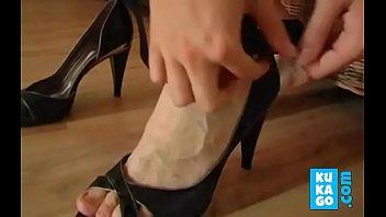 jizz on german housewife boot