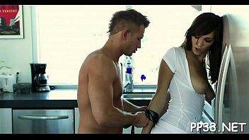 hunk penetrates babe039_s vulva after crimson-hot luxurious oil rubdown