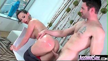 (Nikki Benz03) Superb Oiled Girl With Big Ass Get Anal Nailed clip-26