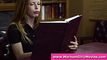 Cute Mormon amateur babes masturbate in office