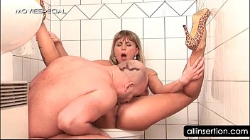 Dirty blonde gets her dick filled twat vibrated